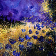 Blue Cornflowers Print by Pol Ledent