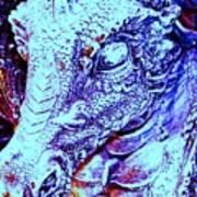 Blue-dragon Art Print by Ramon Labusch