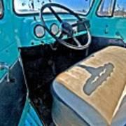 Blue Ford Pickup Truck Art Print