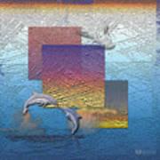 Blue Lagoon Sunrise  Art Print