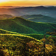 Blue Ridge Sunset Art Print