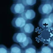 Blue Snowflake Art Print by Jouko Mikkola