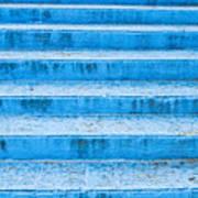 Blue Steps Art Print