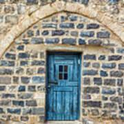 Blue Traditional Door Art Print