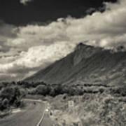 Bnw Volcan De Fuego - Sacatepequez Art Print