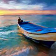 Boat On Beach Art Print