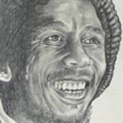 Bob Marley Art Print by Stephen Sookoo