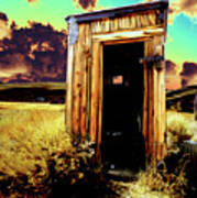 Bodie Outhouse Art Print