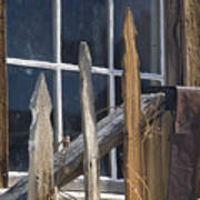Bodie Picket Fence And Window Art Print