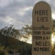 Boothill Graveyard Tombstone Arizona 2004 Art Print