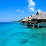 Bora Bora Lagoon Resort Art Print