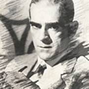 Boris Karloff, Vintage Actor Art Print