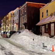 Boston During The Historic 2015 Winter Art Print
