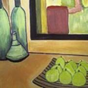 Bottles And Pears No 2 Art Print