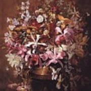 Bouquet Of Orchids Art Print