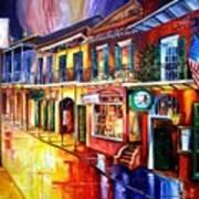 Bourbon Street Red Art Print