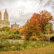 Bow Bridge In Autumn Art Print