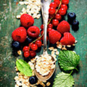 Breakfast With Oats And Berries Art Print