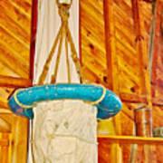 Breeches Buoy In Sleeping Bear Point Boathouse In Sleeping Bear Dunes National Lakeshore-michigan Art Print