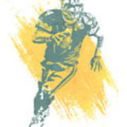 Brett Favre Green Bay Packers Water Color Art 1 Art Print