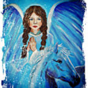 Brianna Little Angel Of Strength And Courage Art Print