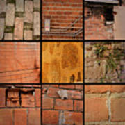 Bricks Collage  Art Print