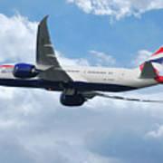 British Airways Boeing 787 Dreamliner Art Print