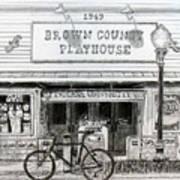 Brown County Playhouse Art Print