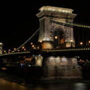 Budapest At Night. Art Print