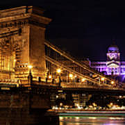 Budapest City By Night Art Print