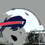 Buffalo Bills Football Team Ball And Typography Art Print