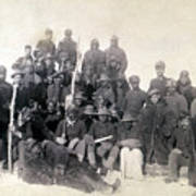 Buffalo Soldiers Of The 25th Infantry Art Print by Everett