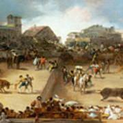 Bullfight In A Divided Ring Art Print