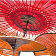 Burmese Parasols Art Print