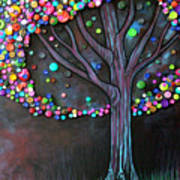 Button Tree 0006 Art Print