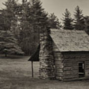 Cabin On The Blue Ridge Parkway - 15 Art Print