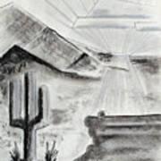 Cacti Sunset Art Print