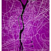 Cairo Street Map - Cairo Egypt Road Map Art On Colored Backgroun Art Print