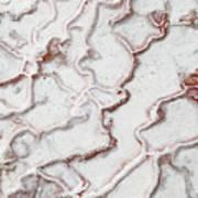Calcium Deposits From Thermal Springs, Pamukkale - Turkey  Art Print