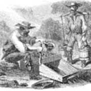 California Gold Rush, 1860 Art Print
