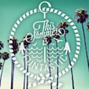 California Palms I Art Print