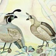 California Quail Art Print