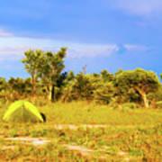 Camp Ground Near Kasane In Botswana Art Print