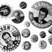 Campaign Buttons Art Print