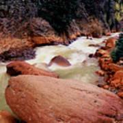 Canyon Creek Ouray Colorado Art Print