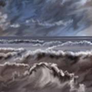 Caramel Seas Art Print