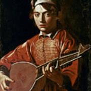 Caravaggio: Luteplayer Art Print by Granger