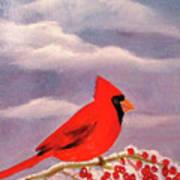 Cardinal Christmas Art Print