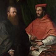 Cardinal Ippolito De Medici And Monsignor Mario Bracci Art Print