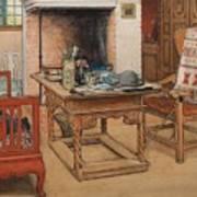 Carl Larsson - Peek-a-boo 1901 Art Print
